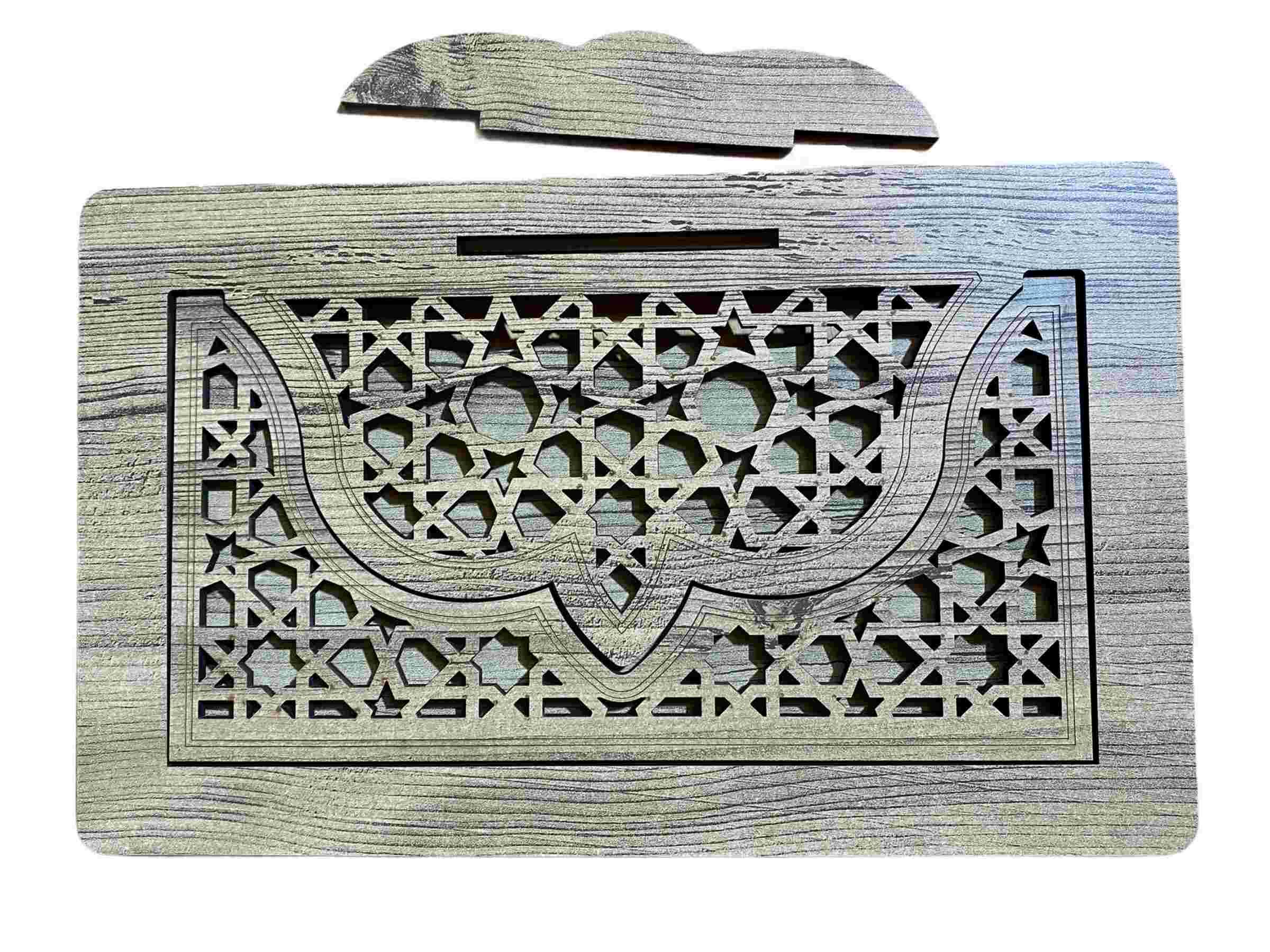 Porte Coran en Bois 33x20cm idéale pour avoir les main libre durant la lecture du Coran très beau travail et très belle finition