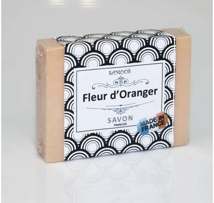 Savon à la Fleur d'Oranger Artisanal outre les nombreux bienfaits de la fleur d'oranger vous serez surtout séduit par son agréable odeur, douce mais très prononcé.