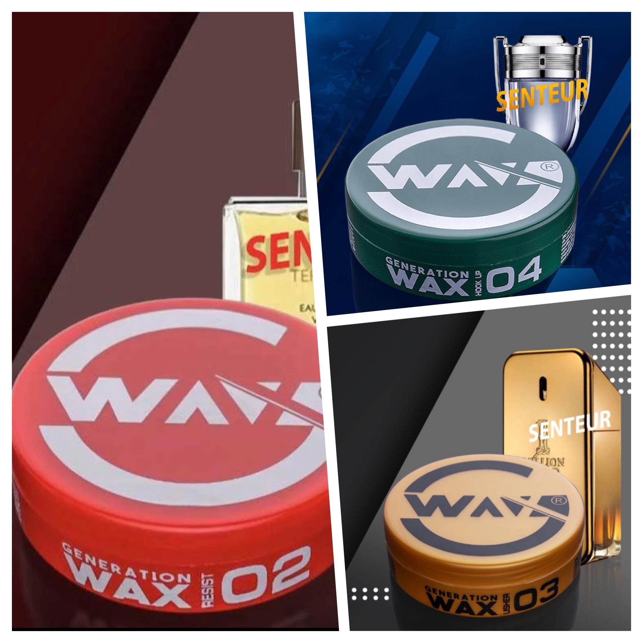 Pack 3 Cires Coiffantes Parfumées Génération Wax rend une clarté naturelle au cheveux tout en les maintenant souple et en les parfumant