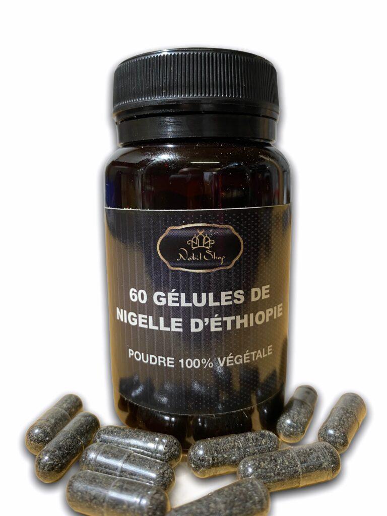 60 Gélules Graine de Nigelle moulues Complément alimentaire pour une cure afin de renforcer le système immunitaire. De nombreux bienfaits.