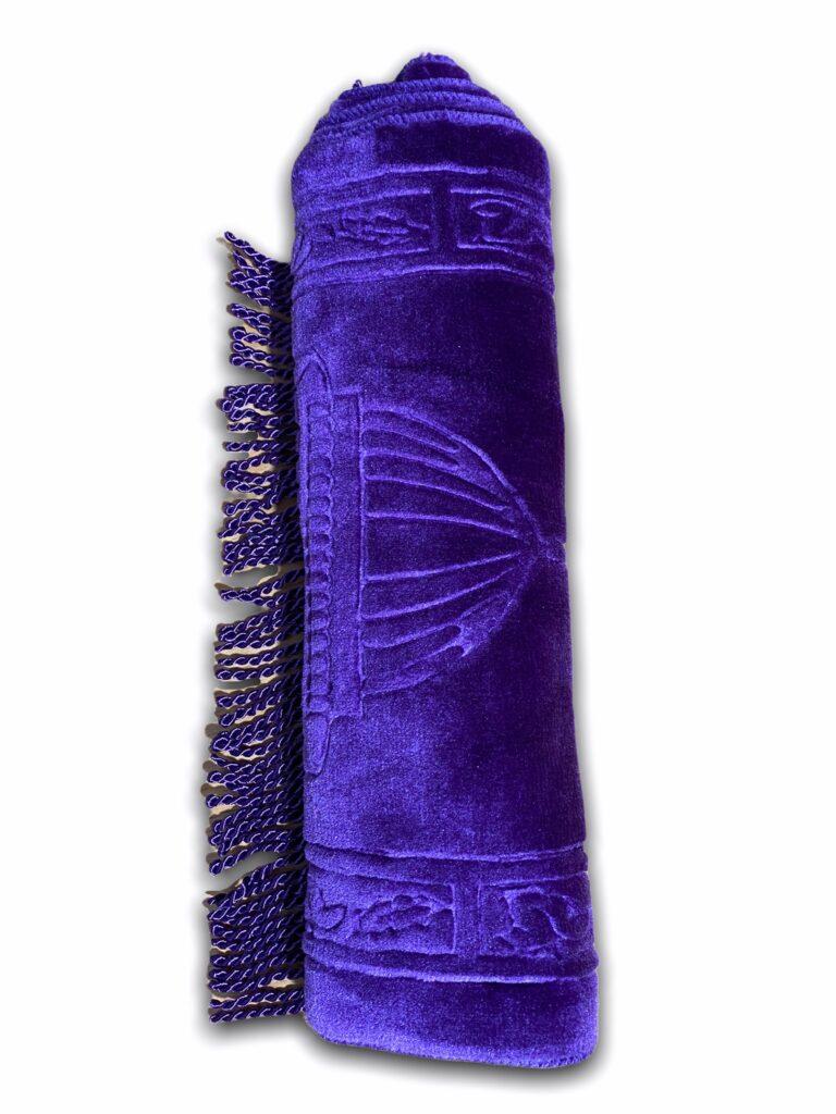 Tapis de Prière violet Petit format 35x65cm, Tapis Idéal pour enfant ou pour Adulte afin de poser la tête pour l'hygiène