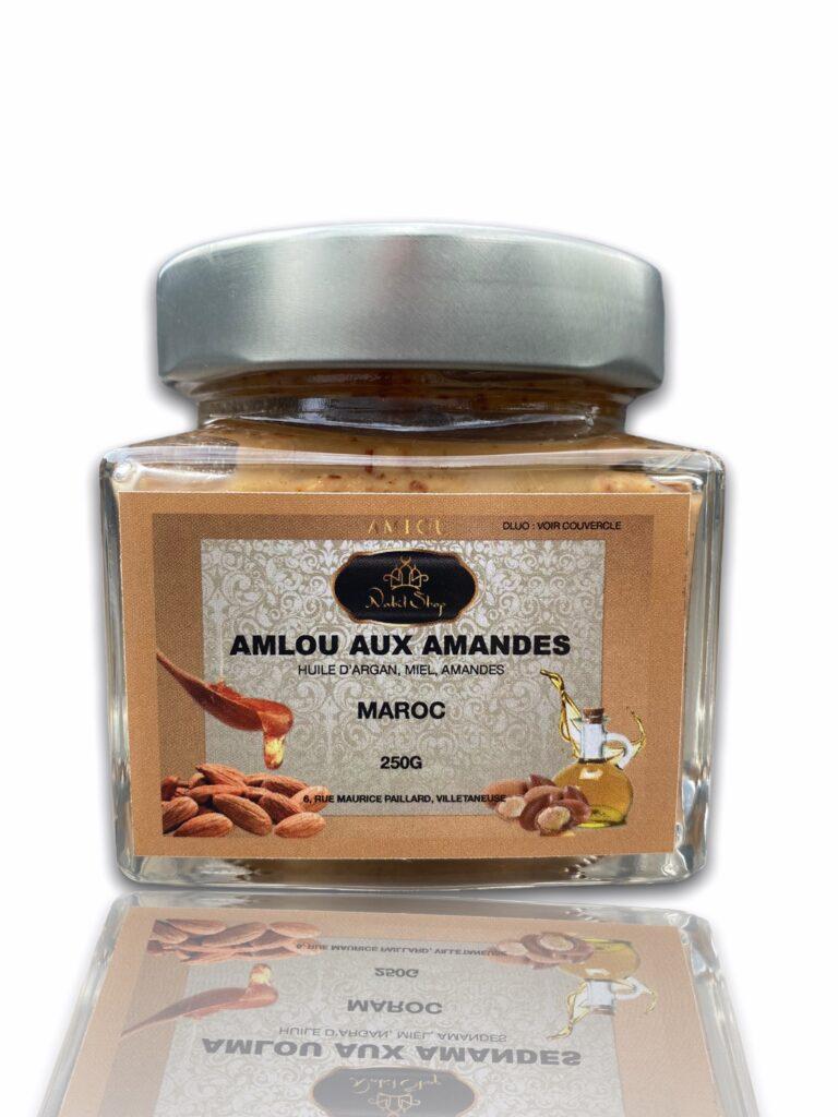 Amlou aux Amandes 250g NabilShop vous propose une pâte à tartiner de qualité et 100% naturelle composé d'Huile d'argan, d'Amandes et de Miel