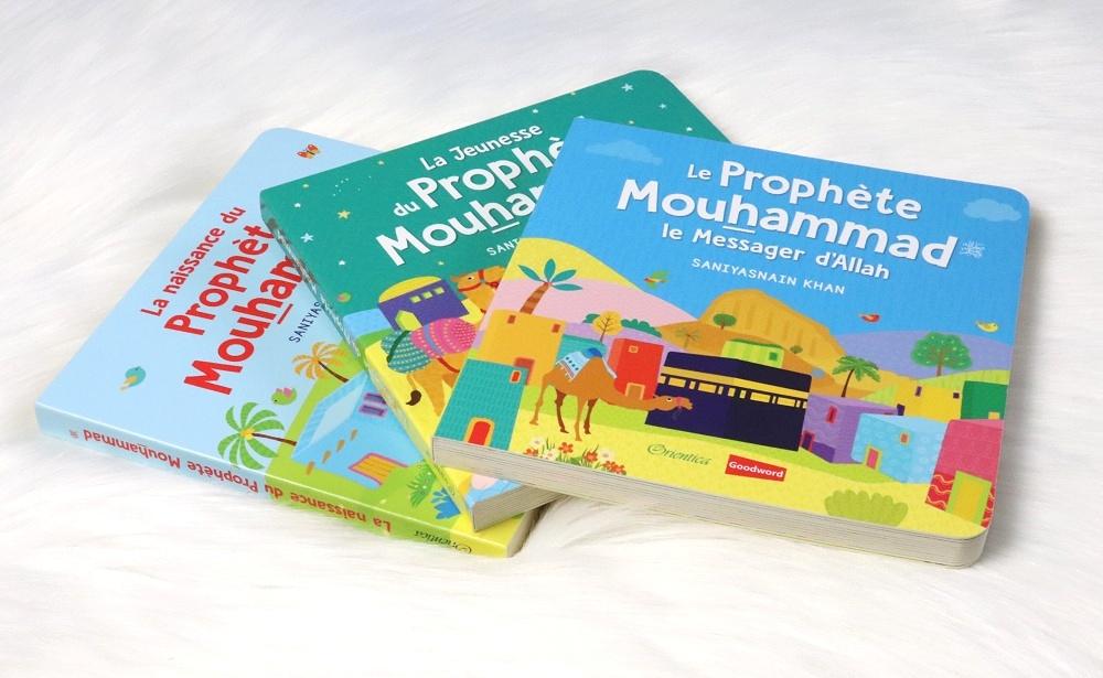 Pack avec 3 livres cartonnés richement illustrés qui introduisent aux enfants l'histoire inspirante de l'époque et de la vie du Prophète Mouhammad (PBDSL) :